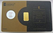 SEALED 1 GRAM KARATBAR NADIR GOLD BAR .9999 PURE Silver Hologram Dark Gold Card