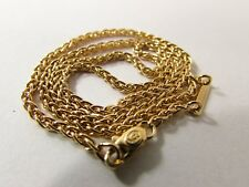 """NEW CARTIER 1991 ROPE NECKLACE WOVEN CHAIN 18k YELLOW GOLD 10.9 gr - 750 - 16.5"""""""