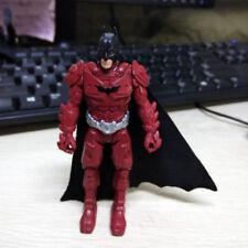"4"" Dc Comics The Dark Knight Rises BATMAN Red Suit Silver Belt Figure Lot"