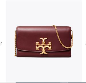 Tory Burch Eleanor Clutch Purse Bag - Claret