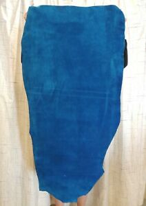 TURQUOISE BISON BUFFALO Leather Hide for Native Crafts Moccasins Buckskins Bags