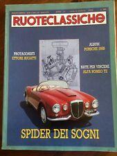1990 Ruoteclassiche 31 Porsche 356B Bugatti Alfa Romeo TZ Cadillac moto Triumph