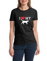 Ladies I Love My Cat Shirt Pet & Animal Lovers Gift Tee Proud Of My Cat T-Shirt
