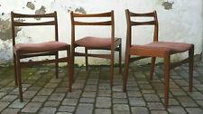 2 + 1 Esszimmer-Stühle teak dining-chair mid century dunkelbraun