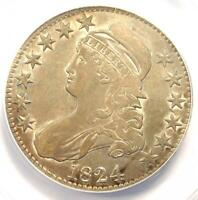 1824 Capped Bust Half Dollar 50C - ANACS XF40 Detail (EF) - Rare Certified Coin!