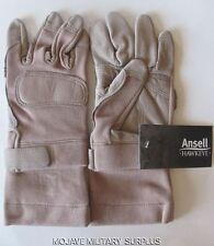 New Ansell Hawkeye FROG Tactical Combat Gloves, Tan, Flame Resistant, MEDIUM