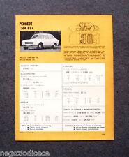 BE40 - Clipping-Ritaglio -1973- MINI SCHEDA TECNICA , PEUGEOT 504 GT