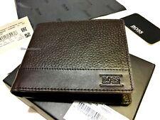 """New Designer Hugo Boss """"Aspen_Trifold"""" Wallet 50322175 Brown RRP £119"""