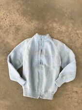 VINTAGE Boys Childrens Kids Wool Blue Cardigan Wool Blend Sweater JB Age 3-4