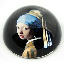 Girl with Pearl Earring Glass Desktop Paperweight by Vermeer PVER1 Parastone