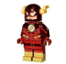 **NEW** LEGO Custom Printed CHROME FLASH Super Hero DC Minifigure