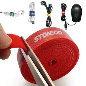 Hook Loop Fastening Tape Earphone Holder HDMI Cord USB Cable Mouse Wire Roll Kit