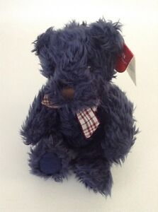 """Russ Berrie Bears From The Past Darby Blue 5"""" Teddy Bear Stuffed Plush New Tags"""