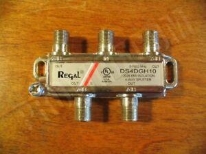 4 way Regal coaxial TV F cable splitter 130db RFI HDTV digital CATV