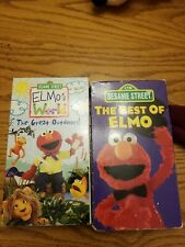 Sesame Street - Elmo's World: The Great Outdoors & The Best of.. 2 vhs lot Sony