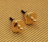 AP-0681-002 Genuine Schaller Gold Strap Locks 447 Strap Locks For Guitar/Bass