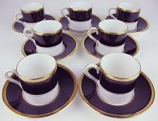 7 x Demitasse Cups & Saucers Coalport Athlone Brown vintage bone china England