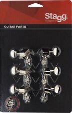 Guitar machine heads KG648NK Stagg set of 6 nickel