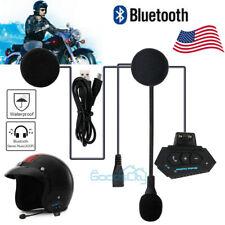 500m BT Bluetooth Motorcycle Headset FM Radio Headset Helmet Interphone Intercom