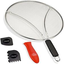 Chefast Splatter Screen Set 13-Inch Stainless Steel Grease Guard Mesh Filter New