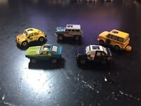 MICRO MACHINES - 1990 GALOOB VINTAGE LOT (5) - PRIVATE EYES COLLECTION RARE