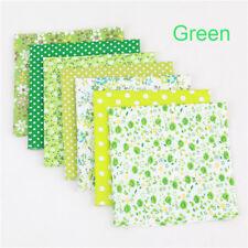 7Pcs/Pack Colourful Cotton Fabric Assorted Pre Cut Fat Quarters Bundle 25*25cm