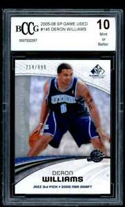 Deron Williams Card 2005-06 Sp Game Used #145 BGS BCCG 10