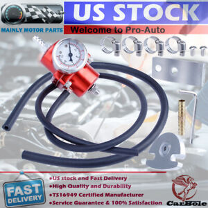 Universal 0-140 Psi Adjustable Fuel Pressure Regulator With Guage Kit 1:1 Ratio