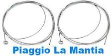 N° 2 CAVO CAVETTO LACCIO FILO FRENO ANTERIORE FRIZIONE VESPA 50 N L R SPECIAL 90