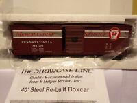 S-HELPER SHOWCASE LINE S SCALE PRR/MS XM BAIL REBUILT #2 40 FT BOXCAR #105126