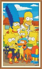 Simpsons 100 cross stitch chart 12.0 X 6.9 in (environ 17.53 cm) Tableau Seulement