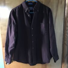 Pendleton Country Hunting Work Wool Men's Button Down Burgundy Flannel Shirt S-M
