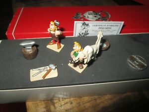 Pixi & Uderzo- Scène Cetautomatix et forgeron-Boite & Certif-Collector années 90