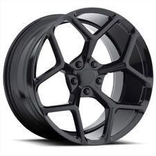 "4 NEW 20"" OE Replica Z28 Camaro Staggered 20x9 & 20x10 Gloss Black Wheels"