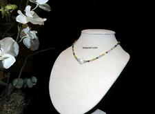 Pastel Color Crystals and 12MM White Shell Pearl necklace Bridal Wedding