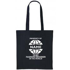 Fashion Designer Personalised Tote Bag Gift Birthday Christmas Add Name