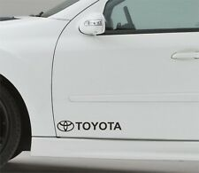 2x Door Sticker Fits Toyota Logo Side Premium Qaulity Decals Graphics CF105