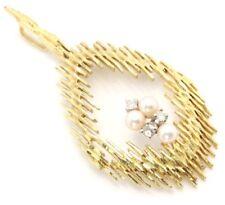 ♦ 14kt 585 Diamant Perlen Gold Ketten Anhänger Perlenanhänger Diamantanhänger ♦