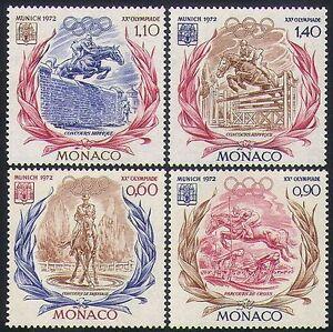 Monaco 1972 Olympic Games/Olympics/Sports/Horses/Show Jumping 4v set (n34629)