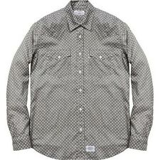 SUPREME Levis Western Shirt Grey L Box Logo 2012 safari camp cap camels F/W 12