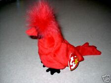 "TY Beanie Baby ""Mac"" the Cardinal MWMT 5th Gen Retired"