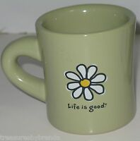 Life is Good Do What You Like Like What You Do Coffee Mug Cup Green Daisy