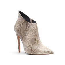 Snakeskin-pattern Stiletto womens high heels ankle boots pumps ladys sexy shoes