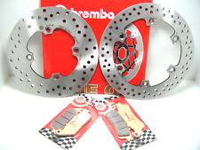 BRE24 DISCHI FRENO BREMBO ANTERIORE+POSTERIORE + PASTIGLIE SILVER WING 600  2003