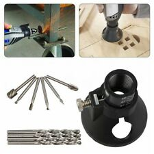 Rotary Multi Tool Cutting Guide Attachment Kit HSS Router Drill Bits