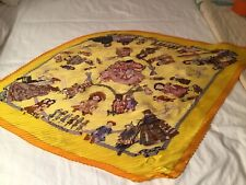 "Hermes "" Hello Dolly"" authentic  rare vintage  scarf  carre Pleated"