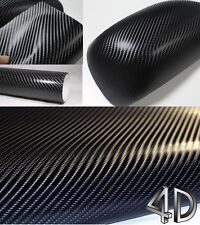 NEW 4D BLACK Carbon Fibre Vinyl Wrap Sheet Film Sticker 30M x 1.52M