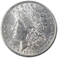 1880-O $1 Morgan Silver Dollar AU About Uncirculated
