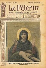 Portrait Icône Sainte Vierge Tableau de William Bouguereau 1911 ILLUSTRATION