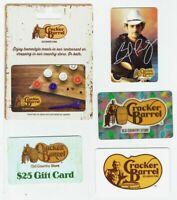 Cracker Barrel Gift Card LOT of 5 - Lenticular Christmas, Brad Paisley -No Value